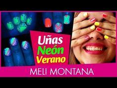 4 Diseños Uñas Neón | Verano | Fácil | Rápido | Meli Montana - YouTube