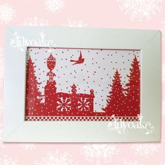 Holiday Greetings Framed Christmas Silhouette by LilyOake, on ETSY for $10.00 + shipping