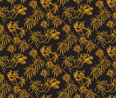 Fire Dragon fabric by jmckinniss on Spoonflower - custom fabric