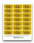 Travel and Reward Tickets for roadtrips.  Love this idea!!  Give your kids a baggie of Travel Tickets at the beginning of the trip and have them give you one every half hour so they can gauge when they are close to the end of the trip!  Also Reward Tickets to trade in for prizes for good car behavior.  : )  Other printable car games here too.
