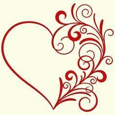 Tattoo designs heart valentines 59 Ideas for 2019 Stencil Patterns, Embroidery Patterns, Machine Embroidery, Quilting Patterns, Machine Quilting, Quilting Designs, Stencils, Diy And Crafts, Paper Crafts
