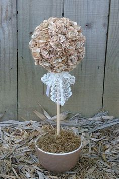 Picture of Book Page Topiary