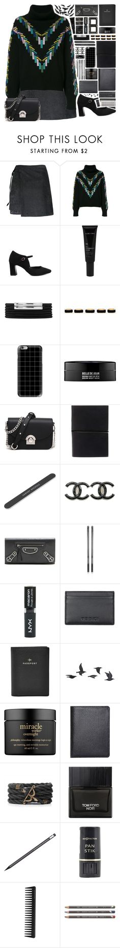 """""""👗Classy Fashion!"""" by ritaof ❤ liked on Polyvore featuring Barrie, Allies of Skin, Forever 21, Casetify, Kenzoki, Chanel, Balenciaga, Jack Vartanian, Topshop and FOSSIL"""