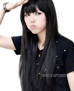 asian long straight hair with bang - Google Search