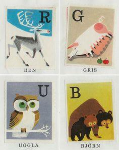 Swedish alphabet stamps