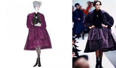 A madrasta da Cinderela usa Dolce&Gabbana outono inverno 1989.
