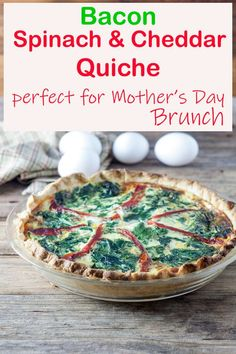 Quiche is one of the easiest and most cost effective ways to feed your family like kings on a budget! Bacon, Spinach, Cheddar Quiche #quiche #pie #bacon #cheese #ifbcx #binkysculinaryc