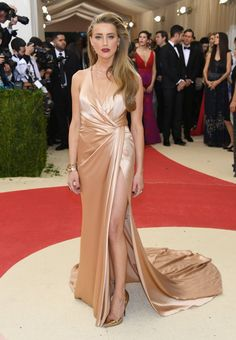 Pin for Later: See All the Stunning Met Gala Arrivals Everyone's Still Talking About Amber Heard Wearing Ralph Lauren.