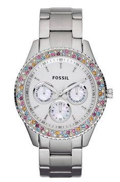 FOSSIL WOMEN'S WATCH  Fossil 'Stella' Crystal Bezel Multifunction Watch