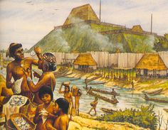 Cahokia.  At its peak, this Native American city was larger than London in AD 1250 with 10,000-20,000 inhabitants (some estimates suggest it could have been as high as 40,000).  Although it was abandoned by 1400, there was no city larger in the area of the continental US until Philadephia in 1800.