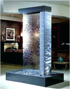 Indoor Water Features Ideas Indoor Water Features: Wall Fountain Decoration for Homes Indoor Water Features. Do you enjoy the cool ambiance and sound of a water fountain just located at the front l… Water Fountain For Home, Water Wall Fountain, Tabletop Water Fountain, Indoor Wall Fountains, Indoor Fountain, Water Fountains, Modern Fountain, Indoor Waterfall Wall, Waterfall For Home