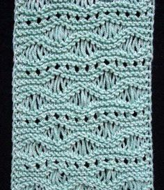 Seafoam Lace and Eyelets Scarf- I made a scarf like this but without the eyelet holes... like this one better!