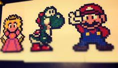 Hama Beads - Princesa, Yoshie y Mario Bros
