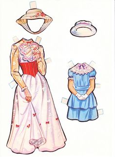 Mary Poppins, Michael and Jane. Paper dolls.