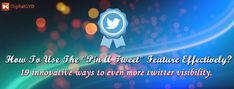 The Ultimate Guide To Pin a tweet effectively? 19 ways for more twitter visibility.  Wonderful @swadhinagrawal #Twitter