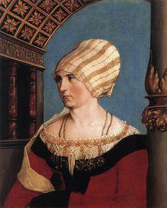 Hans Holbein the Younger - Portrait of Dorothea Meyer, 1516.  Kunstmuseum Basel, Kupferstichkabinett)