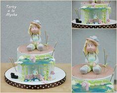 fishing girl cake