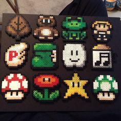 Super Mario 3 collage hama perler beads by bobbarker1984