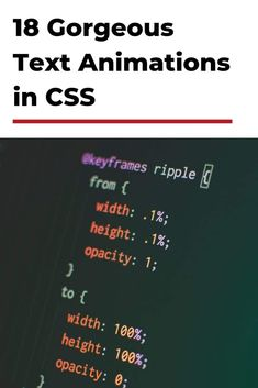 If you're looking to make your website stand out, text animations are a great for that. Here are 18 gorgeous #TextAnimationsInCSS that'll help you! Text Animation, Web Design Tips, Professional Website, Cool Animations, Text Effects, Digital Technology, More Fun, Things That Bounce, Texts