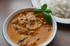thai coconut red curry- need to find red curry paste and make this!!