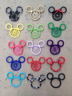 Mickey Mouse Dream Catcher KeychainCar by leimk on Etsy, $20.00