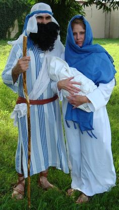 Joseph and Mary Christmas Pageant Costumes, Christmas Bible Character Costumes…