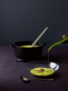 Heston Blumenthal Pea and Ham Soup by Molecule Gastronomy Technique