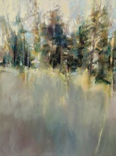 "Abstract Landscape Painting ""Music of the Pines"" by Intuitive Artist Joan Fullerton"