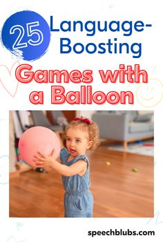 Great news, parents! You can use what you already have at home to create games that will improve your kids' speech and language! It does not need to be fancy to be effective. To prove this, below you will find an extensive list of balloon games for kids that will boost their language. Learning Through Play, Fun Learning, Preschool Activities, Balloon Games For Kids, Games For Toddlers, Improve Vocabulary, Preschool Speech Therapy, Balloon Words, Speech And Language