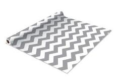 Chevron Graphite Contact Paper/Shelf Liner 18 x 5' by TimeSavors