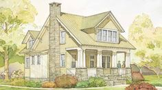 4 bedrooms, 2,300 sq.ft. Highland Cottage, plan #1335