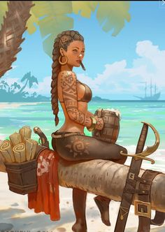 Pirate Art, Pirate Woman, Pirate Life, Female Character Design, Character Concept, Character Art, Fantasy Characters, Female Characters, Pirate Pictures
