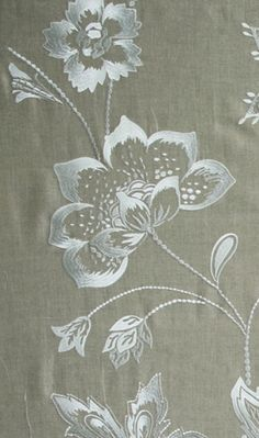 Petiole embroiderde fabric, Nina Campbell. not hand-embroidery, but beautiful just the same