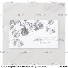 Shop Modern Elegant Soft Pretty Black White Gray Floral Business Card created by LeonOziel. Pretty Black, Black And White, Day Up, Colorful Backgrounds, Business Cards, Things To Come, Gray, Elegant, Floral