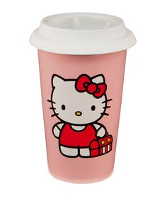 Hello Kitty Double-Walled Ceramic Travel #Mug on #zulily
