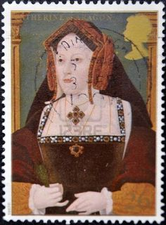 UNITED KINGDOM - CIRCA 1997: A stamp printed in Great Britain shows Catherine of Aragon, wife of king Henry VIII, circa 1997