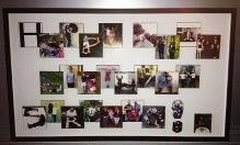 Great birthday gift idea - spell out your message through photos of friends and family - from Fastframe Santa Monica