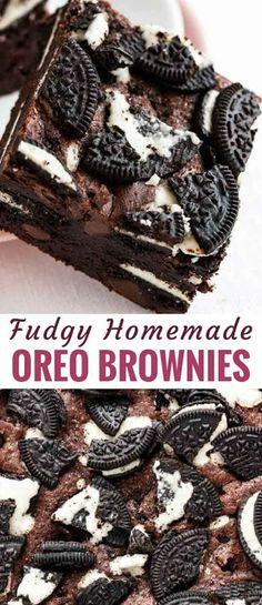 Oreo Brownies #recipes #food #easyrecipe #healthy #easy #cake #cookies #dessert #vegan #ideas #comfortfood #dinnerrecipes #homemade #easter #brunch