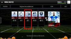 Madden mobile - Set Master Collectible