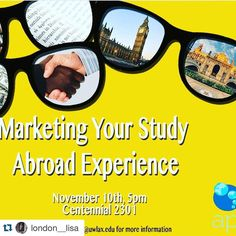 #Repost @london__lisa Hey friends! Anyone interested about study abroad or who has already should stop by this event next week November 10th at 5 pm in Centennial 2301. @uwlax #uwlax #api #ispyapi #uwlstudyabroad