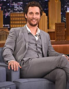 Hollywood star: Matthew McConaughey visited The Tonight Show Starring Jimmy Fallon on Thursday in New York City