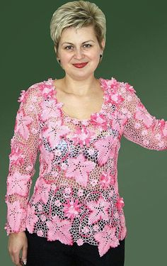 TRICO y CROCHET-madona-mía: Blusas en Crochet Irlandés o Ruso modelos Freeform Crochet, Crochet Yarn, Crochet Top, Russian Crochet, Japanese Crochet, Irish Crochet Patterns, Irish Lace, Crochet Blouse, Crochet Fashion