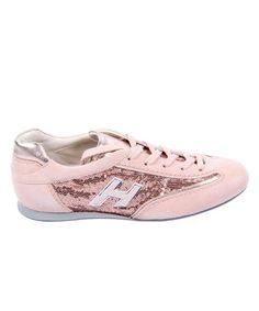 Look what I found on #zulily! Pink Leather Sequin Monogram Sneaker #zulilyfinds