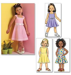 Items similar to Little Girls' Easy Sundress Pattern, Little Girls' Dress Pattern, Sz 2 to Butterick Sewing Pattern 4718 on Etsy Little Girl Dresses, Girls Dresses, Flower Girl Dresses, Dress Girl, Luxury Kids Clothes, Summer Clothes, Kids Clothes Online Shopping, Girls Knitted Dress, Sundress Pattern