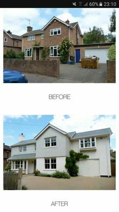 Home Renovation – Remodel Your Living Space - Home Remodeling House Cladding, Facade House, Exterior Cladding, Home Exterior Makeover, Exterior Remodel, Rendered Houses, House Makeovers, Bungalow Renovation, House Renovations