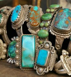 Old silver and turquoise