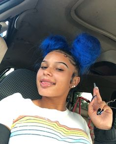 Baddie Hairstyles, Black Girls Hairstyles, Weave Hairstyles, Pretty Hairstyles, Dyed Natural Hair, Natural Baby, Curly Hair Styles, Natural Hair Styles, Edges Hair