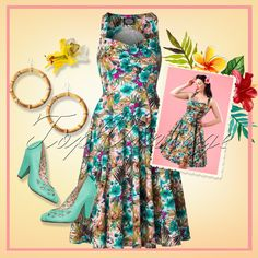 What's better than a bouquet of flowers? Right, a flower dress!