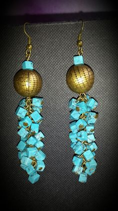 Handmade earrings with turquoise