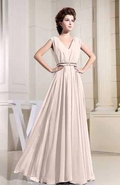 Cream Vintage Long Floor Length Prom Homecoming Dress Wedding Evening Casual…